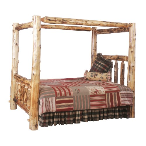 Traditional Rustic Log Beds