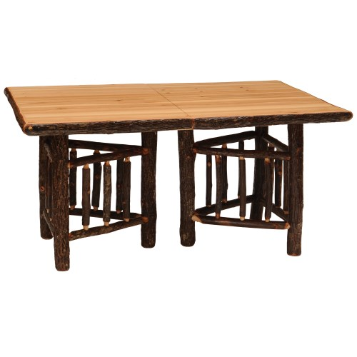 Superbe ... Rustic Rectangular Log Dining Tables ...