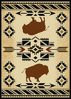 DSW Buffalo Rug Collection: 8' x 10.5' - South West Buffalo Rug